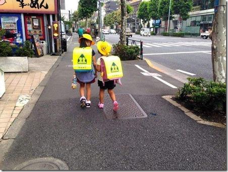 日本小学生上学