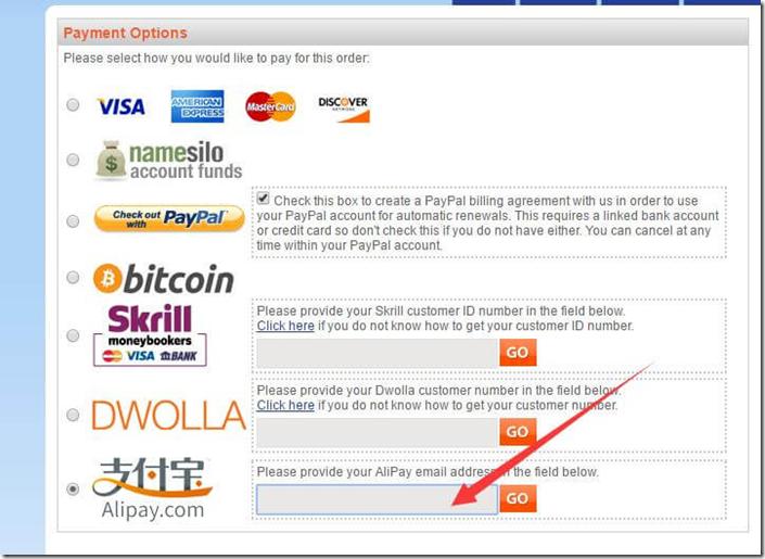 namesilo-payment-option